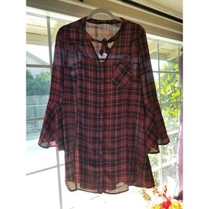 Jack by BB Dakota plaid shirt dress